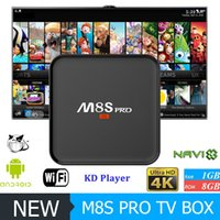 Wholesale New Android Hd - New M8S PRO Android TV Box Amlogic S905X Android 6.0 KD 17.1 Krypton Fully Loaded IPTV Stream Better M8S MXQ PRO TV Box