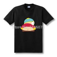 Wholesale Shirt Kiss - Wholesale- New Funny Cartoon South Park Kiss My Ass Biatch T Shirts Men Pattern Tshirts Short Sleeve O Neck T-shirts Fashion Tees