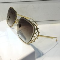Wholesale stones sunglasses for sale - luxury Women Designer sunglasses Fashion Diamond Stone UV Protection Lens Coating Mirror Lens Frameless Color Plated Frame Come With Box
