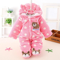 Wholesale Thick Girls Clothing - 2017 winter New child Romper Cotton Padded Thick Newborn Baby Girl Warm Jumpsuit Autumn Fashion baby's wear Kid Climb Clothes