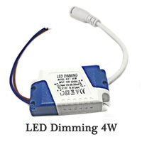 LED Dimming Driver 4W Transformer Power Supply Используется для панели Light Plastic 1pcs / package