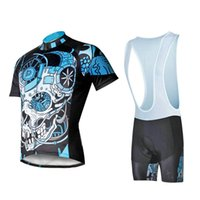 Wholesale Skeleton Cycle Jersey - The Mechanical skeleton PALADIN Men's Cycling Jerseys+shorts Ropa Ciclismo MTB Cycle Bicycle Clothing Quick-Dry Racing Breathable Tops