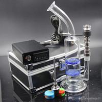 Wholesale Heater Cheap - Cheap portable Dnail quartz dab rig oil wax dabbing PID TC box with Ti titanium nail coil heater silicone jar bong