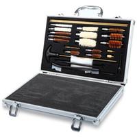 ingrosso kit di fucile-Universal Hunting Pistol Rifle Pistola Pistola Shotgun Cleaner Gun Kit di pulizia Conveniente Con scatola Case Caccia Accessori + NB