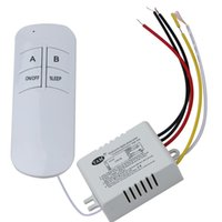Wholesale Wireless Lamp Way - High Quality 220V 1 2 3 Way Creative 220V Wireless LED Lamp Light Remote Control Switch ON OFF Anti-interference Happy Gifts