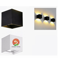 Wholesale Wall Mounted Led Cabinet - 7W Wall lamps IP65 cube adjustable surface mounted outdoor led lighting sconces led outdoor wall light up down led cabinet lighting