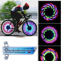 Atacado Cool Bike Light 16 LED Carro Motocicleta Ciclismo Bicicleta Tire Válvula de Roda Flashing Spoke Light