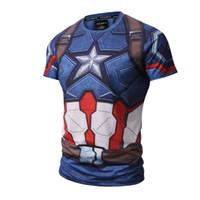 Wholesale Avengers Tshirts - 3d print captain Amrican cool shirt summer t shirts for men 3d printed exquisite The Avengers design sweatshirt wholesale cheap tshirts