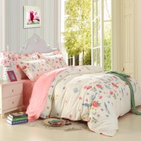 Wholesale Aqua Comforter Sets - Free shipping high quality 4pcs lot two side printed 100% cotton 4pcs bedding set with multi-colors