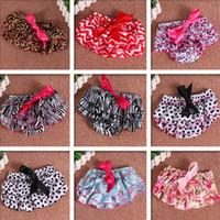 Wholesale 2t Ruffle Underwear - Baby Bloomers Girls Pettiskirt underwear Panties Toddle Kids Underpants infant newborn ruffled satin PP pants Kids Cloth