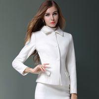 Wholesale Cashmere Blazer Women - Women Blazer Spring Slim Elegant Long Suit Jacket Cardigan Feminino Women Office Business Suits Veste Femme Tailleur 50N0052