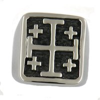 Wholesale Stainless Steel Cross Rings Mens - Custom made stainless steel mens or wemens jewelry free masonary JESUS CHRIST CRUSADERS KNIGHTS TEMPLAR RELIGIOUS CROSS MASONIC RING 11W83