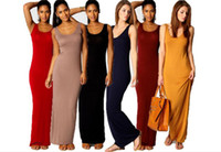 Frauen Weste Tank Maxi Kleid Seide Stretchy Casual Sommer Lange Kleider Ärmellos Backless Lady Dress M079