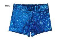 tops de baile puro al por mayor-Nuevo Ropa para mujer Pantalones cortos con lentejuelas Pantalones cortos Discoteca DS Jazz Traje de baile Ropa de fiesta de hip-hop Rojo, negro, dorado, plateado, azul