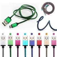 Wholesale Durable Iphone Charger - Good Quality 1m Micro USB Cables Braid Weaving Colorful Cord Nylon Data Charger Durable Lighting Cable For cellphone Cell Phone Samsung