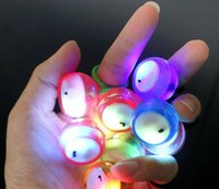 Wholesale Cheap Rubber Toys - High Quality Cheap Price LED Flashing Thumb Chucks Balls Control Roll Game Finger Yo-Yo Ball Fidget Toys 4 Colors