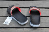 Wholesale Solar Flip - The 2017 new selling sale high quality Hydro 7s VII Retro Men Solar Soft Sandals Scuffs Mens Leather Rubber Massage Slippers shoes US 7-11