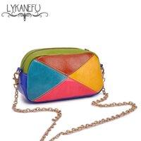 Wholesale Wholesale Purse Straps Chains - Wholesale- Fashion 2016 Women Bag Colorful Strap Chain Clutch Purse and Handbag Crossbody Bag For Women Messenger Bags Ladies Clutches