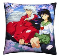Wholesale Japanese Anime Pillow Cases - Wholesale- Pillow Case Japanese Anime Pillowcase Inuyasha Sesshouma REBORN FAIRY TAIL Pillow cover Pillow case 40cmx40cm