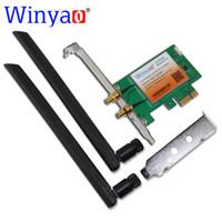 Wholesale wifi express adapter resale online - Winyao PCE AC PCI E X1 Desktop WiFi Card Adapter for Intel AC Bluetooth BT Wireless AC NGW Mbps AC1200
