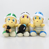 Wholesale Super Mario Boomerang - 3pcs set 18cm Super mario bros koopa troopa with Hammer Boomerang Bomb landmine Plush Toys Stuffed Dolls Gift