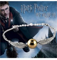 Wholesale Charms For Bracelets Sold Wholesale - Wholesale- 2016 Hot Selling bracelets Bangles The Movie The deathly Gold-plated for hallows Harry B Potter Bracelet Drop men free Shipping