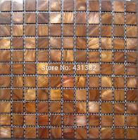 Wholesale Parquet Tiles Flooring - Mosaic wall tiles gold kitchen tile backsplash mother of pearl tiles; shell mosaics bathroom wall flooring pearl tile