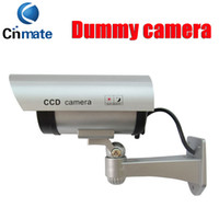 Wholesale Decoy Security Cameras - Fake camera Dummy Emulational Decoy Outdoor bullet CCTV IR Wireless HOME Security Cameras Flash light Red Led flashes