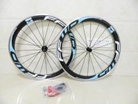 rodas clincher azul venda por atacado-FFWD rodas F6R 50mm azul preto clincher bicicleta de fibra de carbono rodado com liga de freio de estrada de bicicleta rodado frete grátis
