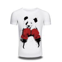 Wholesale T Fr - Camping T-Shirts 2017 New Tee Shirt Mens T Shirt Men Kung Fu Panda Print Summer Tops Tees For Men Hip Hop men's Clothing Printed T Shirts fr