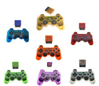 ingrosso usb ps2 per pc-HOT Wireless USB PS2 Controller di gioco Chiaro Rich Color Joystick Gamepad con PS2 PS3 USB plug Per PC Computer tv box game cool