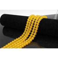 Wholesale Yellow Jade Bangles - Fashion jewelry New arrival natural dyed jade yellow jade beads strand loose gemstone beads for bracelet bangle