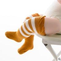 Wholesale Eyes Boys Clothing - Newborn socks 0-5T baby girls stripe eyes printed knee high stockings boys leg warmer 0-5T toddler baby clothes accessories stockings R0313