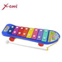 Wholesale Wisdom Smart - toy turtle Colorful Hand Knock Piano 8-Note Xylophone Wisdom Smart Clever Development Musical Toys for Baby Kid Children Free Shipping