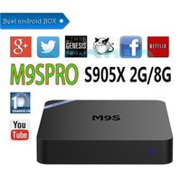 Vendita all'ingrosso M9SPRO Android box Amlogic S905X Android 6.0 KD 16.1 completamente caricato 2GB DDR3 RAM 8GB emmc Flash Google Streaming Media Player