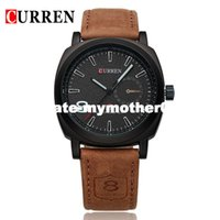 Wholesale Military Leather Watch Bands - Curren 8139 Luxury Brand Sport Men Watch Quartz Fashion Casual Wristwatch Military Army Leather Band Watches Reloj Masculino
