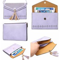 Wholesale Wholesale Leather Bag Straps - Women Fashion Wallet Handbag Flip PU Leather Case Luxury Card Slot Flip With Strap Cover For iPhone 7 6s 6 plus Samsung OPP BAG