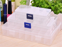 Wholesale Sell Girlfriend - hot selling Adjustable Storage Box 10 15 24 Compartments Organiser Plastic Case for mon girlfriend birthday gift
