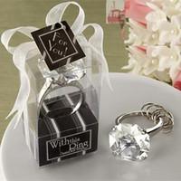 elmas şekilli kristaller toptan satış-Elmas Şekilli Nişan Kristal Anahtarlık Anahtarlık Düğün Gelin Duş Iyilik Şekeri Bekarlığa Veda Gecesi Noel Doğum Günü Partisi Hediye F2017532