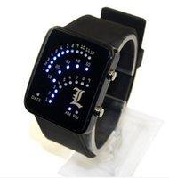 Wholesale Tv Wrist Watches - Death note L figure led wrist watch black