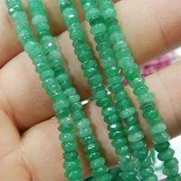"""Wholesale Emerald Abacus - Natural Emerald Abacus Jaspers 2x4mm Faceted Abacus Loose Beads jewelry making 15"""" GE302"""