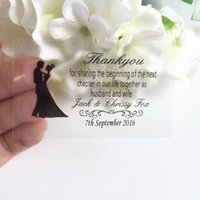 Wholesale Rectangle Wedding Invitations - Wholesale-1.5 * 2.5 inches Wedding personalized customize stickers rectangle labels invitation envelops seals souvenirs candle jar tags