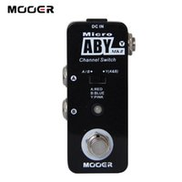 Wholesale guitar effects pedals metal - Micro ABY Channel Switch Pedal Full metal shell True bypass DC Guitar effect pedal