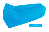 Wholesale Outdoor Bean Bag Lounger Chairs - Summmer beach bed Lounge Sleep Bag Lazy Inflatable lounger Sofa Chair, Living Room Bean Bag Cushion, Outdoor Self Inflate Furniture DHL free