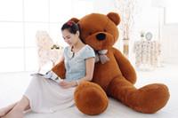 teddy-puppe große größe großhandel-100cm Plüschtiere große Größe Teddybär große 5 Farben umarmen Bär Puppe / Liebhaber / Weihnachtsgeschenke Geburtstagsgeschenk