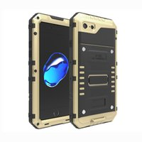 Para iphone 7 6s 6 mais 5s Extreme Aluminum Silicone Waterproof Shockproof Fingerprint Dive Armor Cover Case