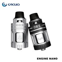 Wholesale Nano Heating - OBS Engine Nano RTA Atomizer 5.3ml Big E-liquid Capacity Single Elliptical Post Holes Match with Many Heating Wire 100% Original