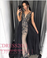 Wholesale Intricate Beading - 2017 Castle Vintage Intricate Evening Dresses Mermaid Square Sweep Train Detachable Lace Applique Prom Dresses Custom made