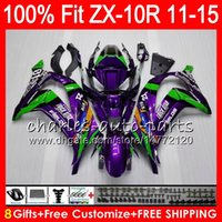 ingrosso zx 14 aperture-8Gifts 23Colors Injection Per KAWASAKI NINJA ZX 10R ZX10R 11 12 13 14 15 Verde porpora 50NO22 ZX-10R ZX10 R 2011 2012 2013 2014 2015 Carenatura