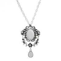 Wholesale Big Sunshine - Wholesale-Sunshine Maxi Royal Vintage Big Crystal Long Necklace Statement Top Quality Fashion Pendant Necklace Fine Forever Jewelry Women